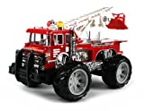 jeep fire truck - 24 Hour Fire Rescue Electric RC Truck w/ Extending Rescue Crane, Flashing Lights & Music RTR Ready To Run
