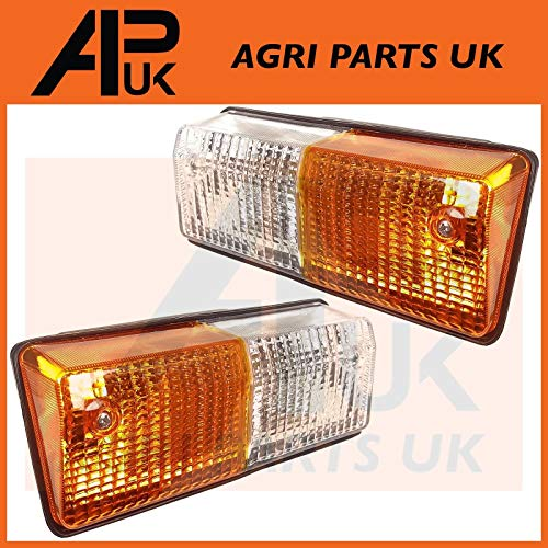 2 x Front Indicator Side Lights Lamp Compatible with Fiat 766 880 980 100-90 Case AVJ VJ Tractor: