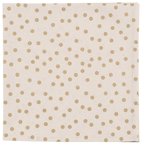 Now Designs Placemats, Set of Four, Gala Gold Polka Dot Print -  - placemats, kitchen-dining-room-table-linens, kitchen-dining-room - 51Nh9Epo43L -