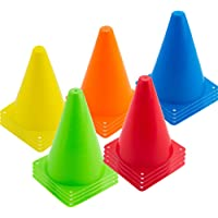 Baaxxango 20 PCS 7 inch Plastic Agility Cones for Kids-Mini Traffic Safety Cones-Construction Agility Cones for Party…