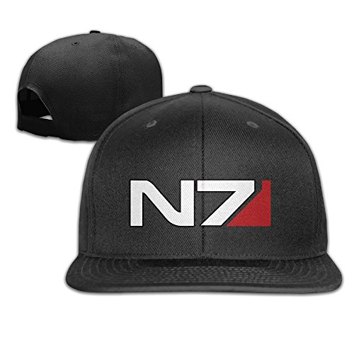 MaNeg Mass Effect N7 Unisex Fashion Cool Adjustable Snapback Baseball Cap Hat One Size - Snapback Prada