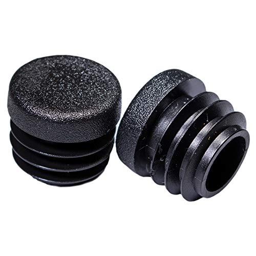 Prescott Plastics 8 Pack: 3/4 Inch Round Plastic Plug, Pipe Tubing End Cap, Durable Chair Glide