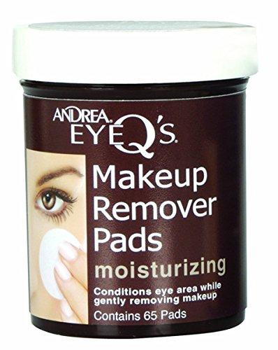 Andrea Eye Q's Eye Make Up Remover, Eye Q's Moisturizing, 65 pads