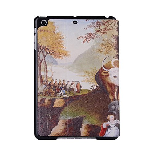 inShang 9.7 inch iPad (2017) Fundas soporte y carcasa para Apple 9.7 inch iPad (2017) ( , smart cover PU Funda ,art style + clase alta 2 in 1 inShang marca negocio Stylus pluma animal