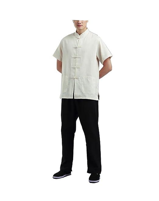 Chino Antiguo algodón Grueso Traje Tang Hombres Camisa de ...