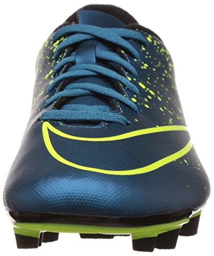 Nike Mercurial Vortex Ii Fg 651647 Herren Fußballschuhe Training Blau / Schwarz / Grün (Squadron Blau / Sqdrn Bl-Blk-VLT)