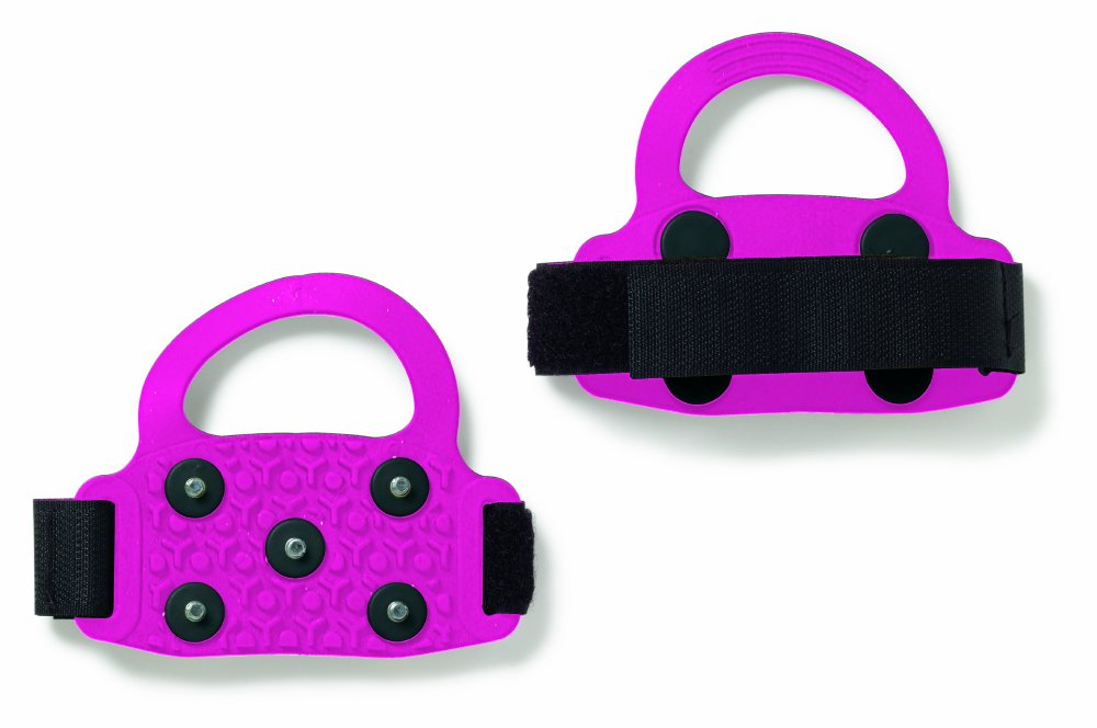 Perfect Solutions High Heel Ice Traction Slip-On, Pink, Ground-gripping Steel Studs Improve Traction on Ice and Snow