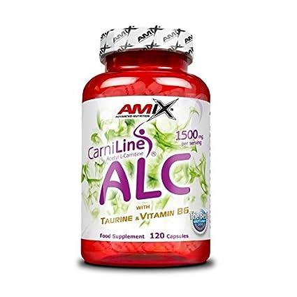 Amix CarniLine ALC - 120 caps Acetil-L-Carnitina, Taurina y Vitamina B6