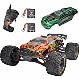 GP Toys Luctan S912 RC Trucks Upgraded Cars with More Durable Gears 33MPH 1:12 Scale Waterproof Off Road Monster Hobby Remote Control Mud Truggy Toys with Extra Gear - Battery - Covers (Orange + Green)