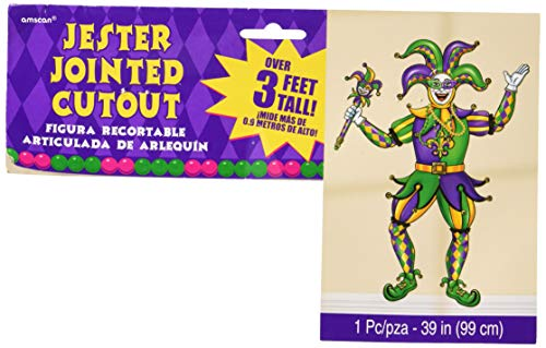 Amscan 190638 Jester Jointed Cutout, Multi (Cut Out Jester)