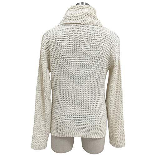 molletonn Tricoter en en Loisirs Solide lgantes Pull Longues Manches Tops Tricots Pull Chemise Femmes Bellelove Vrac Blouse Dames Blanc Tricot WIqUPn