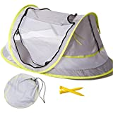 Large Baby Portable Beach Play Tent Provide UPF 50+ Sun ShelterBaby Travel Bed with 2 PegsLightweight Pop Up Baby Mosquito Net