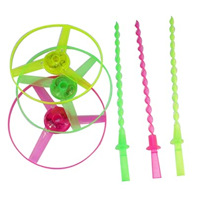 Anniston Kids Toys, Funny Spinning Dragonfly Hand Push Light Flying Saucer Kids Toy for Outdoor Play Classic Toys for Children Toddlers Boys Girls, Random Color: Toys & Games [5Bkhe0203785]