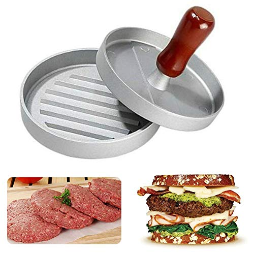 Albabara Heavy Duty Burger Press Aluminum Hamburger Patty Maker Non-Stick for Stuffed Burgers, Sliders, Regular Beef Burger, Perfect Hamburger Mold for BBQ Essential Kitchen & Grilling ()