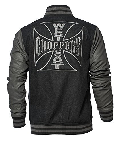 Wool Grey Coast OG Cross Jacket Baseball Choppers Black West USOwIO