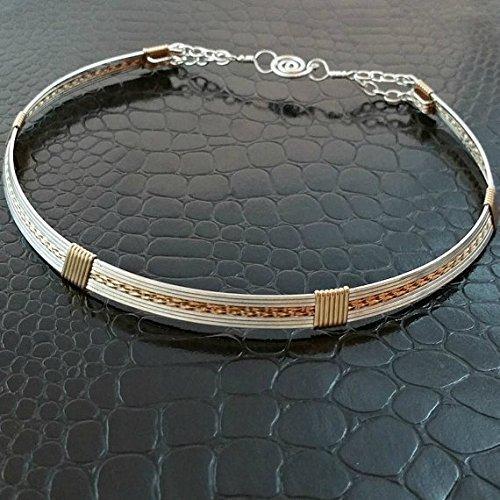 Submissive Locking Day BDSM Collar, bondage jewelry, slave collar, TEMPTRESS Wire Wrapped Collar