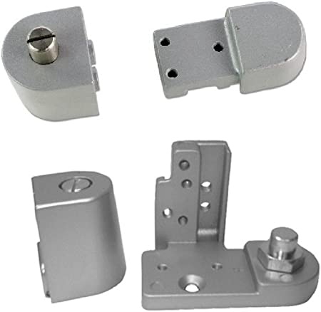 Choose Handing Right Hand US Aluminum Style Storefront Door Pivot Hinge Set in Duronotic Finish