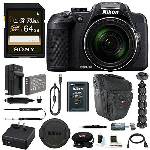 Nikon Coolpix B700 Digital Camera w/ 64GB SD Card & Battery/
