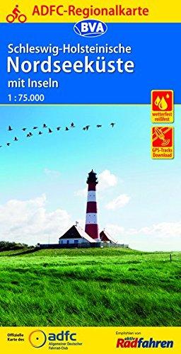 ADFC-Regionalkarte Schleswig-Holsteinische Nordseeküste mit Inseln mit Tagestouren-Vorschlägen, 1:75.000, reiß- und wetterfest, GPS-Tracks Download (ADFC-Regionalkarte 1:75000) Landkarte – Folded Map, 6. April 2016 reiß- und wetterfest BVA BikeMedia GmbH 3