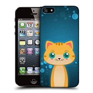 Case Fun Orange Tabby Cat by DevilleART Snap-on Hard Back Case Cover for Apple iPhone 5 / 5S