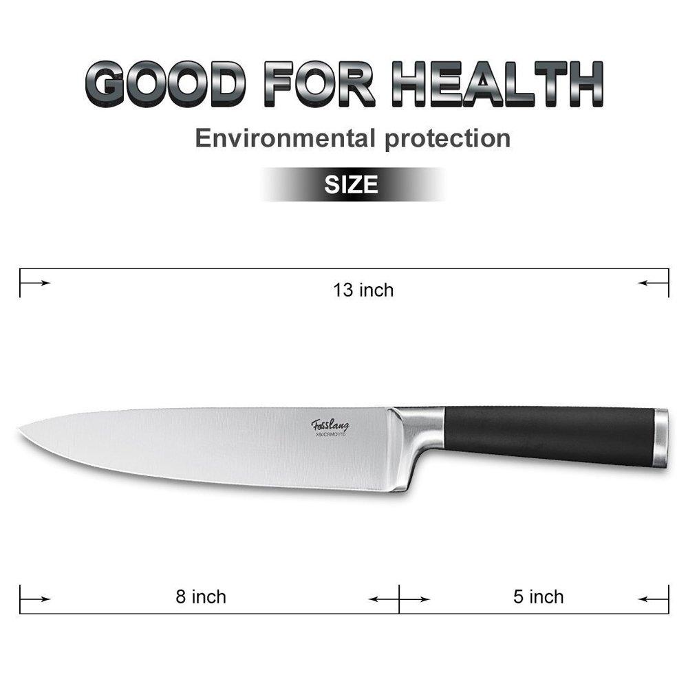 amazon com fosslang pro kitchen chef u0027s knife german stainless