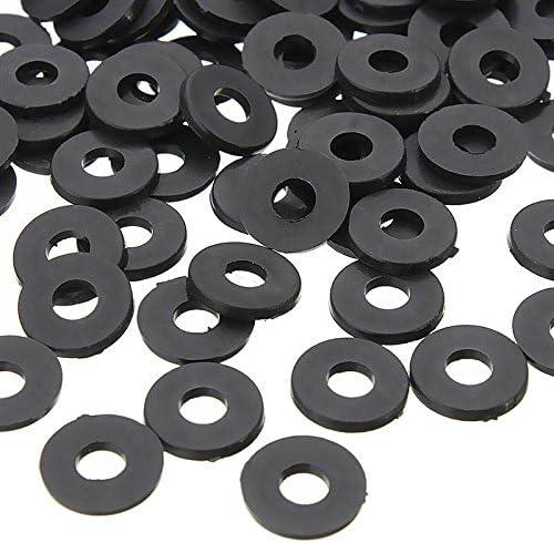 200PCS noir joints espaceurs Cikuso M3 x 6mm x 1mm rondelles isolantes plates en nylon