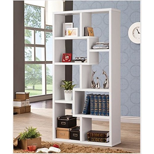 Coaster Home Furnishings 800136 Casual Bookcase, White by Coaster Home Furnishings