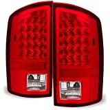 Red Clear 07-08 Dodge Ram 1500 07-09 Ram 2500 3500 Pickup Truck LED Tail Lights Pair Replacement