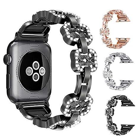 Compatible con Correa de Reloj de Apple para Mujeres Serie 4 ...