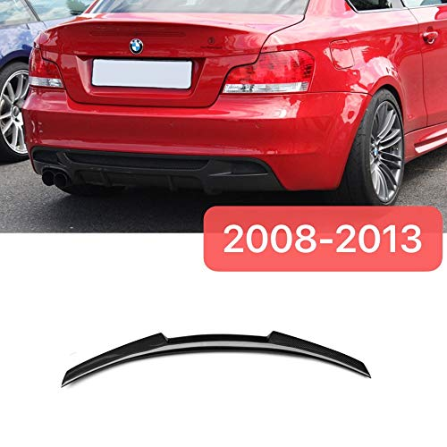 Mosion Auto for BMW E82 1 Series Coupe Rear M4 Style Spoiler Wing Lip Carbon Fiber - Style Lip Spoiler Rear