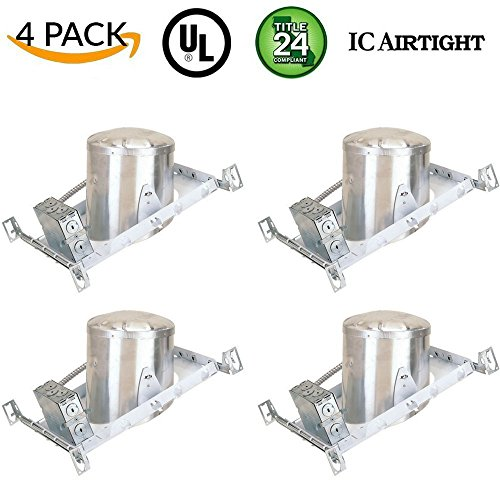 Line Slope Pack - Four-Bros Lighting NC6/SLOPE/4PK 6 Inch New Construction Sloped Pack of 4-6