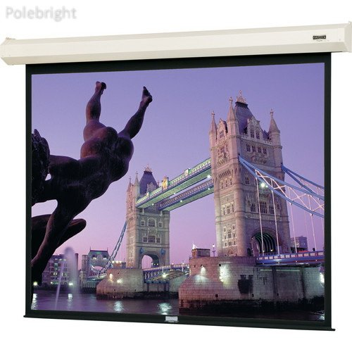 40801 Cosmopolitan Electrol Motorized Projection Screen (8 x 8',120V, 60Hz) - Polebright Updated