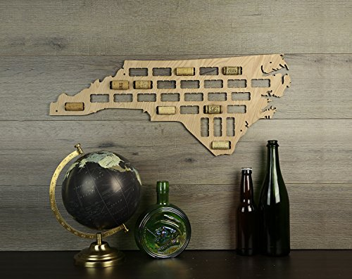North Carolina Wine Cork Map (North Carolina Wine)