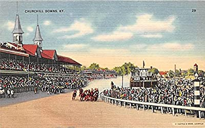 Horse Race Churchill Downs, Kentucky, KY, USA Old Vintage Horse Racing Postcard Post Card
