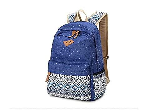 09186853ea Amazon.com : Women Backpack for School Teenagers Girls Vintage ...