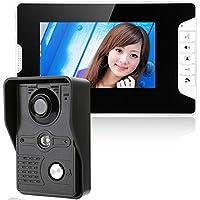 GAMWATER 7 Inch Video Door Phone Doorbell Intercom Kit 1-camera 1-monitor Night Vision with IR-CUT HD 1000TVL Camera IR Camera with Night Vision