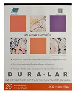 Grafix Matte 0.005 Dura-Lar Film, 9-Inch by 12-Inch, 25 Sheets