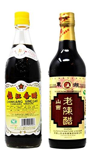 Chinese Vinegar Golden PLum Chinkiang And Dong Hu Shan Xi Lao Chen Cu (Zhan Jiang Chinkiang + Shan Xi Lao Chen)