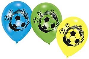6 globos con diseño de fútbol, para fiesta de cumpleaños ...