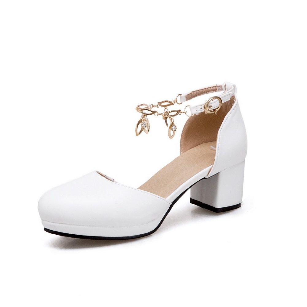 AdeeSu SLC04163 - Plataforma Mujer 36 EU|Blanco
