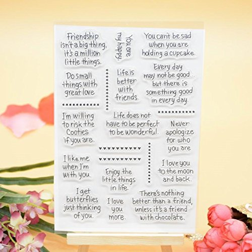 (Welcome to Joyful Home 1pc Friendship Sentiment Clear Stamp for Card Making Decoration and Scrapbooking)