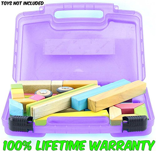 Magnetic Blocks Case, Toy Storage Carrying Box. Figures Playset Organizer. Accessories For Kids by LMB