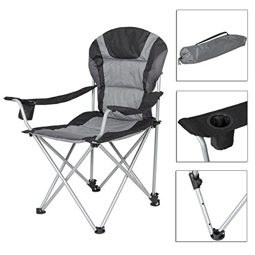 Portable Padded Backpack Beach Chair Black Camping Fishing Chair And Carry by Folding With Case TSE031A