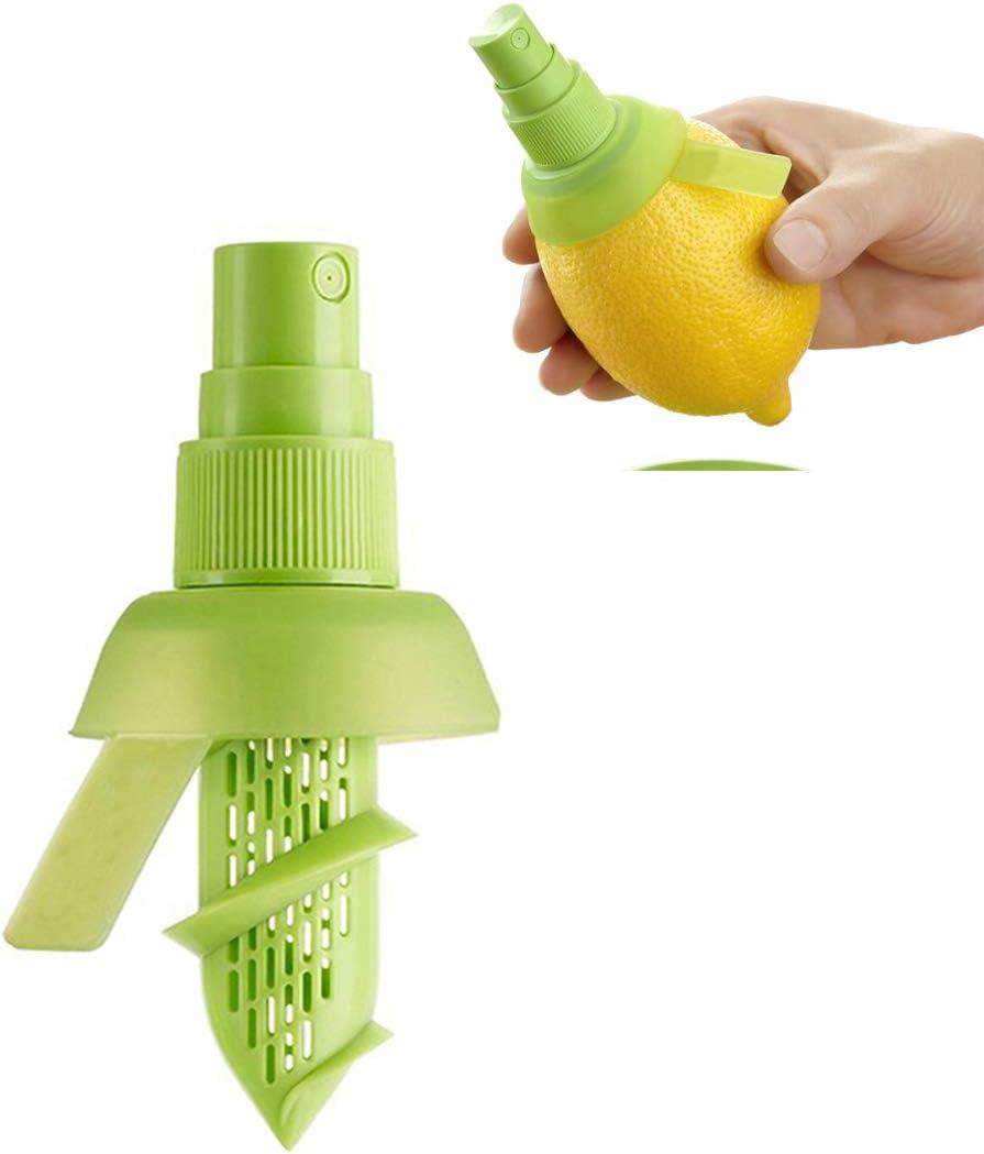 jaune AIQI Lemon Sprayer Gadget Citrus Sprayer Set Lime Juicer Extractor For Vegetables Salads Fruits De Mer Et Cuisine Gadget De Cuisine /à La Mode