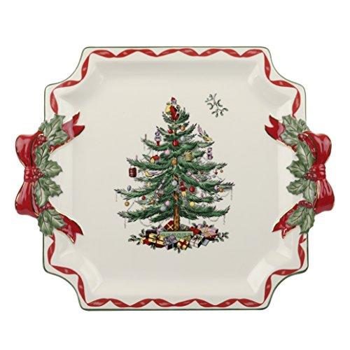 Spode China Christmas Tree (Spode Christmas Tree Ribbons Square Platter)