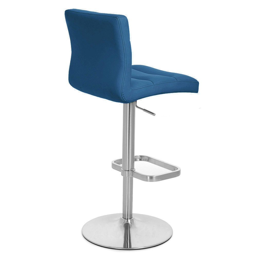 Amazon.com Dark Blue Lush Adjustable Height Swivel Armless Bar Stool Kitchen u0026 Dining  sc 1 st  Amazon.com : blue swivel bar stools - islam-shia.org