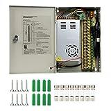 YaeTek 18 Channel CCTV Distributed Power Supply Box 12V 30A 360W for Security Surveillance Camera DC,Key Locked(12V 30A 18CH 360W)