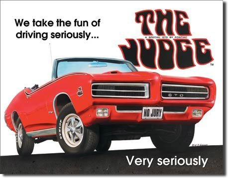 (MMNGT Pontiac GTO The Judge Car Retro Vintage Tin Sign TIN Sign 7.8X11.8 INCH)