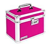Vaultz Locking Storage Box, 7.8'' x 7.2'' x 10'', Pink (VZ00802)