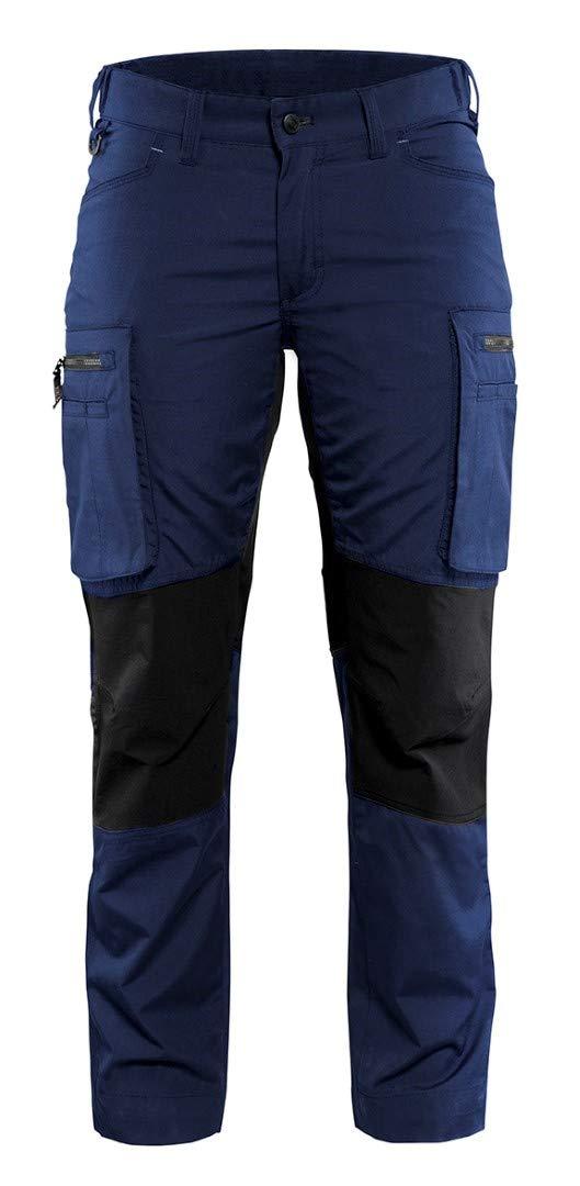 Blaklader 715918458999C46 Ladies Pants''Stretch'' Size C46, Navy Blue/Black